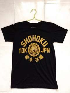 🚚 Shohoku Gold Printed Graphic Black Shirt
