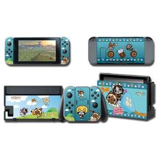 Nintendo Switch Decal Skin Cats Village
