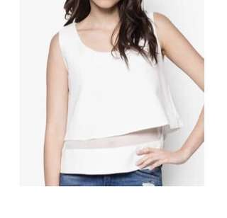 Something Borrow White Top S-M Size (Wore 1 time only)
