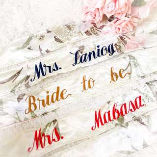 personalized floral sash