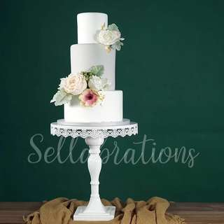 [Sellabrations] White Birthday Cake Wedding Cake Stand