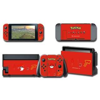 Nintendo Switch Decal Skin Pokemon Starter Red