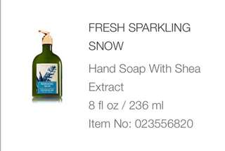 Bath and Body Works HAND SOAP with Shea Extract
