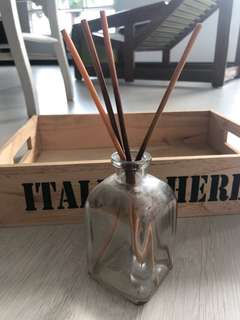 Empty glass Reed diffuser