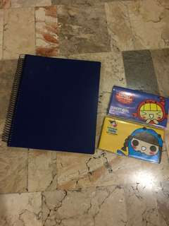 School bundle all for P50 big notebook