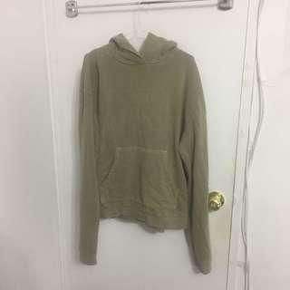 green terrycloth hoodie from urban outfitters