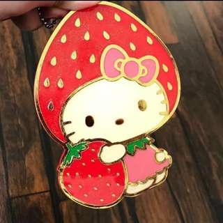 Hello Kitty草莓系列(造型小鏡子吊飾/票卡夾)