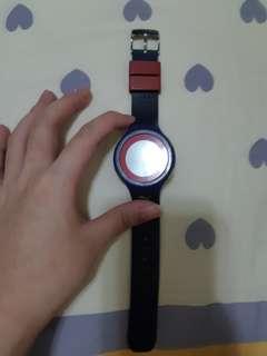 正版防水不銹鋼電子錶Puma Unisex PU910931007 Faas 200 Purple Watch