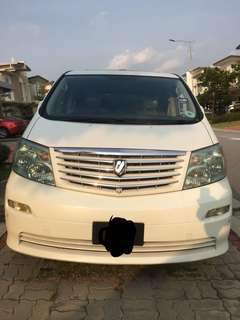 Toyota Alphard 3.0 MZ G Edition ( Fully Loaded )