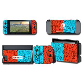 Nintendo Switch Decal Skin Kirby Red & Blue