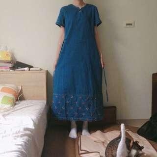 (郵寄含郵)古著牛仔洋裝