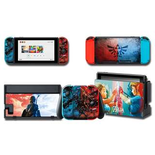 Nintendo Switch Decal Skin Zelda Red & Blue