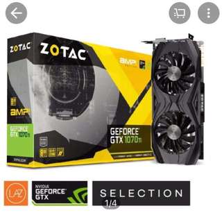 ZOTAC Geforce GTX1070Ti AMP! Edition 8GB Gaming Graphics Card