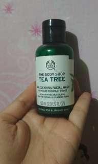 Tea tree facial wash travel size