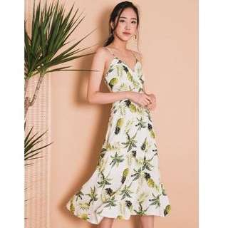 🚚 Luella Printed Midi Dress