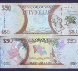 2016 Guyana $50 commemorative Banknote