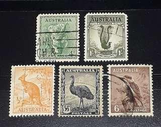 Australia old stamps used set