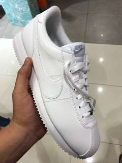 Nike Cortez Full White - Basic Leather