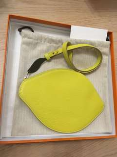 Hermes lime clutch 2016 limited
