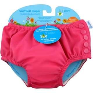 iPlay Inc., Swimsuit Diaper, Reusable & Absorbent, 24 Months, Hot Pink, 1 Diaper
