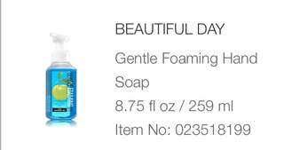 Bath and Body Works GENTLE FOAMING HANDSOAP