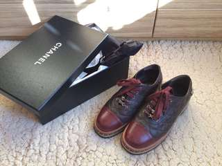 Chanel leather shoes  方頭復古風厚底英倫紳士皮鞋
