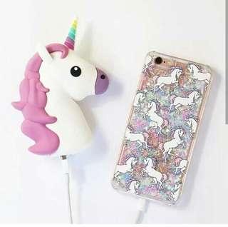 Powerbank unicorn + case hp unnicorn