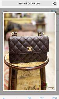Vintage Chanel Caviar Brown Shoulder Bag