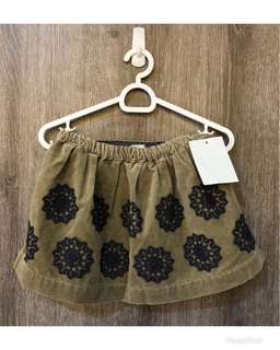 Little Peanut corduroy skirt, size 12-18 mos