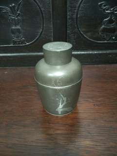 日本老錫茶倉