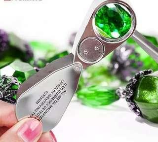 珠寶放大鏡(双白光LED光燈,紫外光燈)