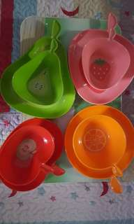 Fruit Tree cute fruit plates & bowls