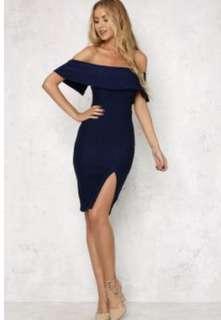 Hello Molly Navy Midi Dress