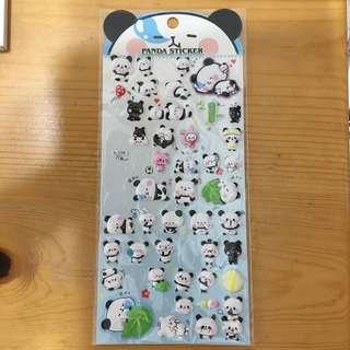 立體動物熊貓貼紙 手帳schedule book weekly planer