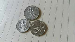 💥💥 Lot Of 3pcs Osterreich aluminium Coin. Very Nice!! (Unc)