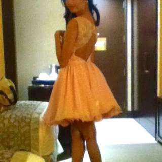 For RENT : Baby Pink Backless Cocktail Dress