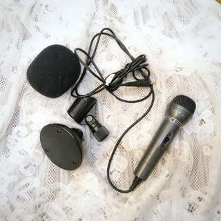Standard size Black Microphone with table stand