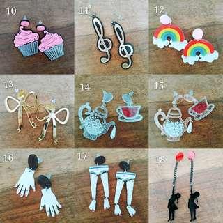 Funky acrylic earrings