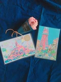 🚚 日本帶回手繪明信片