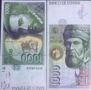 1997 Spain 🇪🇸 1000 Pesetas Banknote