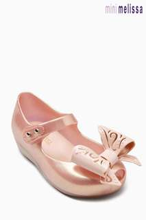 MINI MELISSA ROSE GOLD ULTRAGIRL FAIRY BOW PUMP