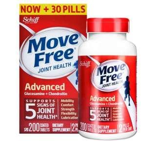 Schiff Move Free Advanced 特效葡萄糖胺軟骨素200粒