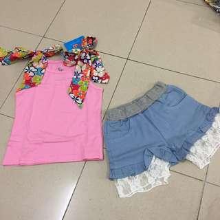 Girl Pink 2pcs Set
