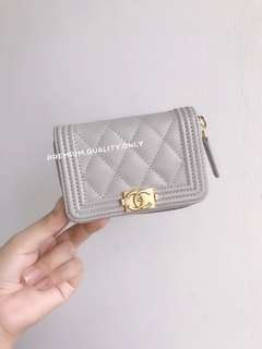 Chanel Boy Zipper Card Holder