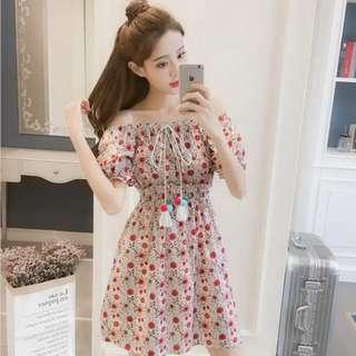 item 🏹Off Shoulder Floral Dress