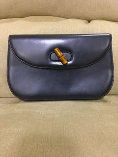 Gucci Vintage Bamboo Leather Bamboo Two-way Bag