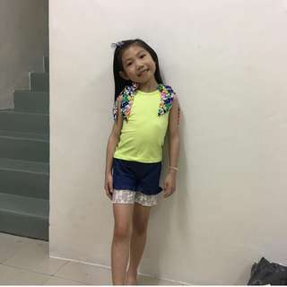 Girl Yellow 2pcs Set