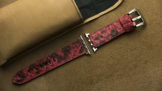 🚚 Apple watch strap / band Python leather, Apple watch strap / band 42mm, Apple watch strap / band 38mm, Apple watch strap / band men, Apple watch strap / band leather