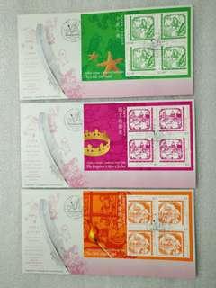 2005年 兒童郵票~安徒生童話 首日封 共五套