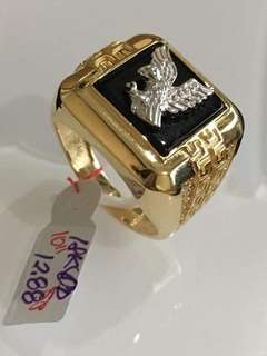 Saudi Gold 18k Ring for Men (Size 10)